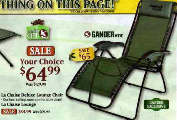 Black friday deal gander mountain la chaise deluxe lounge for Chaise lounge black friday sale