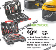 Black Friday Deal Task Force 47 Piece Home Repair Tool