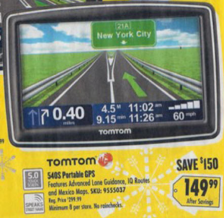 black friday deal tomtom xxl 540s gps 540s. Black Bedroom Furniture Sets. Home Design Ideas