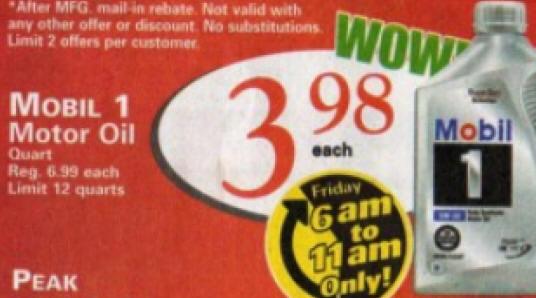 black friday deal mobil 1 motor oil