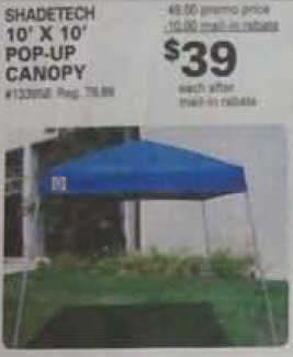 "Shade Tech 10"" X 10"" Pop-up Canopy"