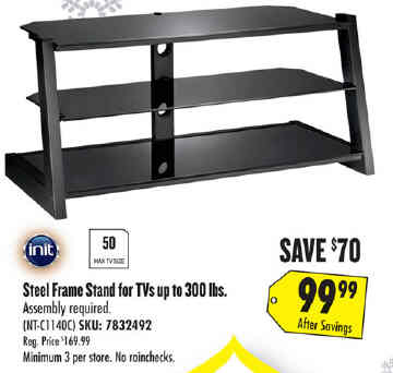 Black Friday Deal Init Tv Stand For Most Flat Panel Televisions Up