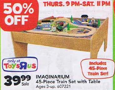 Black Friday Deal Imaginarium Train Set With Table 45 Piece