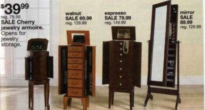 Black Friday Deal Mirror Jewelry Armoire