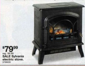 Black Friday Deal Sylvania Electric Stove Heater Black