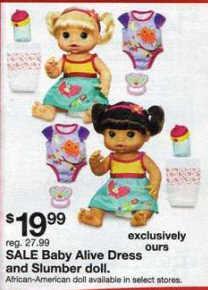 Black Friday Deal Baby Alive Dress N Slumber Doll Aa 36206
