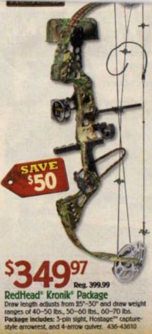 Black Friday Deal Redhead Kronik Compound Bow Package