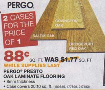 Black Friday Deal Pergo Presto 8mm Thick X 7 5 8 In Wide