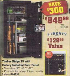 Black Friday Deal Liberty Timber Ridge Tr25 25 Gun Safe