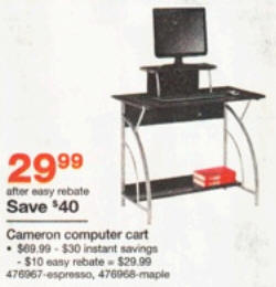 Black Friday Deal Staples Cameron Computer Desk Espresso