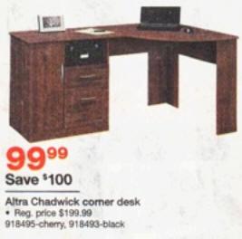 Black Friday Deal Altra Chadwick Collection Corner Desk