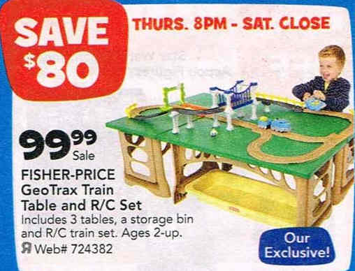 Black Friday Deal: Fisher-Price GeoTrax Train Table and RC Set