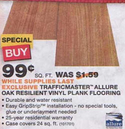 Black Friday Deal Trafficmaster Allure Oak Resilient