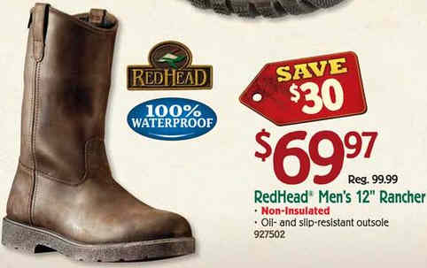 Redhead rancher boots