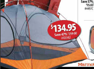 (Please always check with local stores to confirm. Errors? email editor at dealigg.com) & Black Friday Deal: Marmot Ajax 3 Tent - 3-Person 3-Season