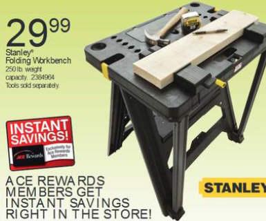 Black Friday Deal Stanley Folding Workbench Stst11026