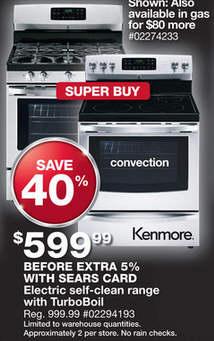 Black Friday Deal Kenmore 5 4 Cu Ft Electric Range W