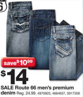 Route 66 mens bootcut jeans