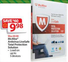 Black Friday Deal: McAfee Antivirus LiveSafe Total