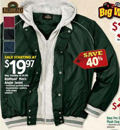 Black Friday Deal Redhead Angler Jackets For Men