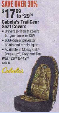 Remarkable Black Friday Deal Cabelas Trailgear Seat Covers Dailytribune Chair Design For Home Dailytribuneorg
