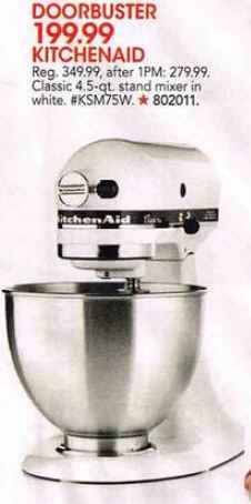 Silver Kitchen Aid  Qt Mixer Black Friday Deals