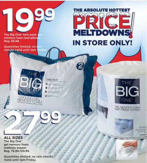 Black Friday Deal The Big One Gel Memory Foam Mattress
