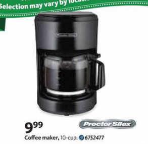 Black Friday Deal: Proctor Silex Coffee Maker