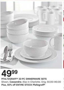 Black Friday Deal: Pfaltzgraff Cassandra 32-Piece Dinnerware Set