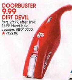 Black Friday Deal Dirt Devil Hand Held Vacuum