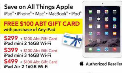 Black Friday Deal IPad Mini GB Tablet Abt Gift Card - Abt ipad