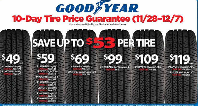 black friday tire deals goodyear