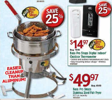 Black friday deal bass pro shops stainless steel fish fryer for Black friday fishing deals