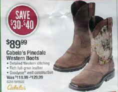 f343125e2e1 Black Friday Deal: Cabela's Pinedale Camo Square-Toe Waterproof Boots