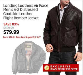 cc4a36293 Black Friday Deal: Landing Leathers Air Force Mens A-2 Distressed ...