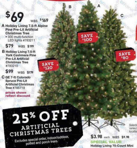 Black Friday Deal: 25% off Artificial Christmas Trees (Assorted)