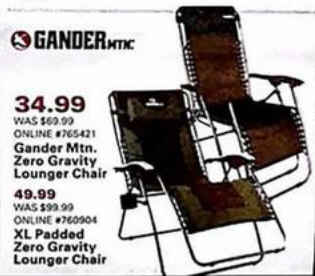Admirable Black Friday Deal Gander Mountain Zero Gravity Padded Pabps2019 Chair Design Images Pabps2019Com