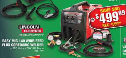 black friday deal free shipping lincoln electric easy mig 140 fluxFree Shipping Lincoln Electric Easy Mig 140 Fluxcore Mig Welder #9
