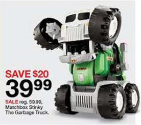 Black Friday Deal Matchbox Stinky The Garbage Truck