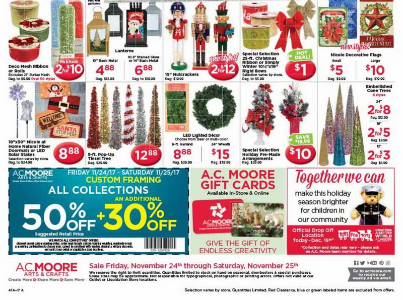 A  C  Moore Black Friday 2017 Ads, A  C  Moore Black Friday