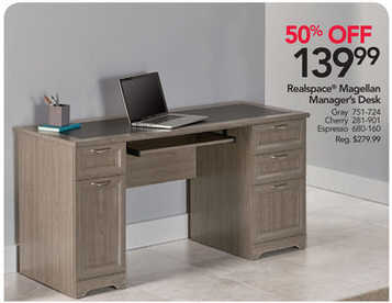 Black Friday Deal Realspace Magellan Collection Managers Desk
